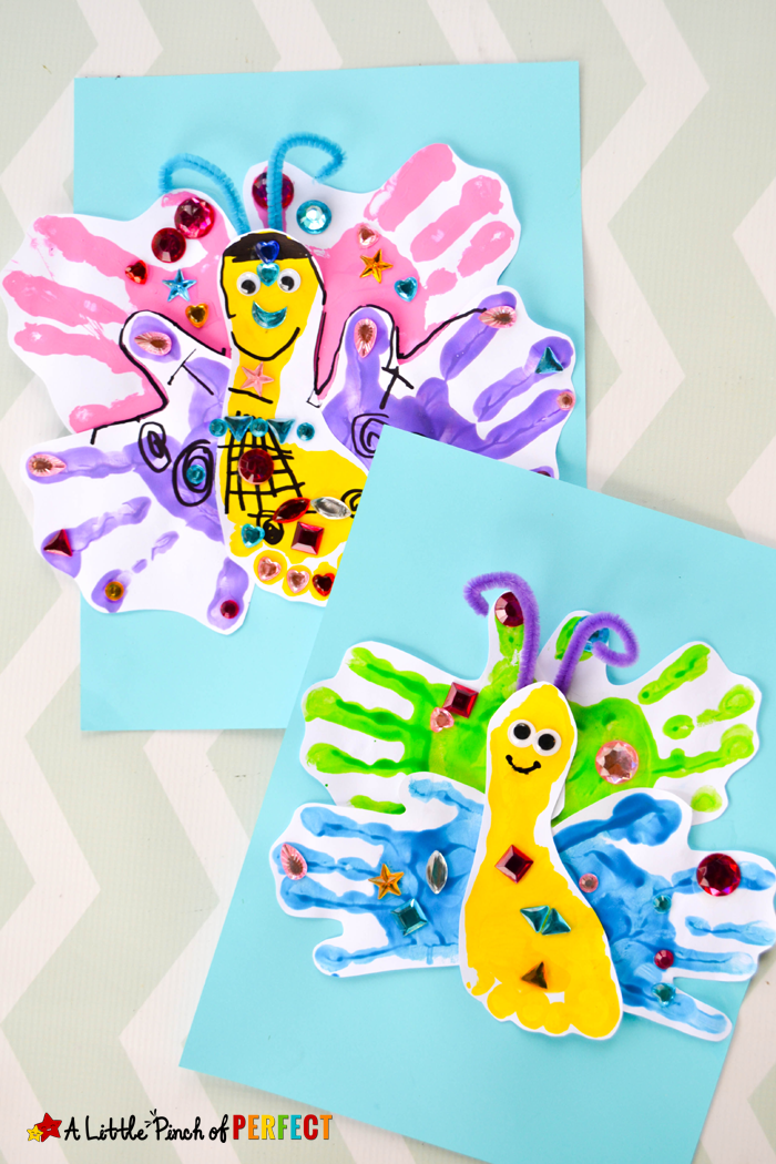 24+ Hand painting crafts for toddlers ideas