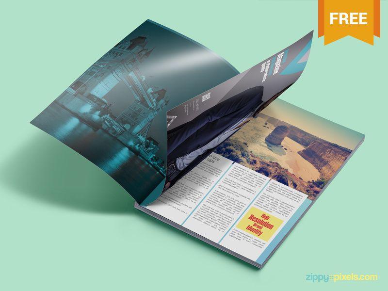 Magazine ad mockup free psd