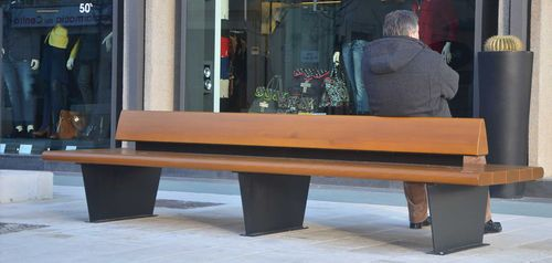 Contemporary bench / steel / solid wood / double-sided CANAPÈ METALCO