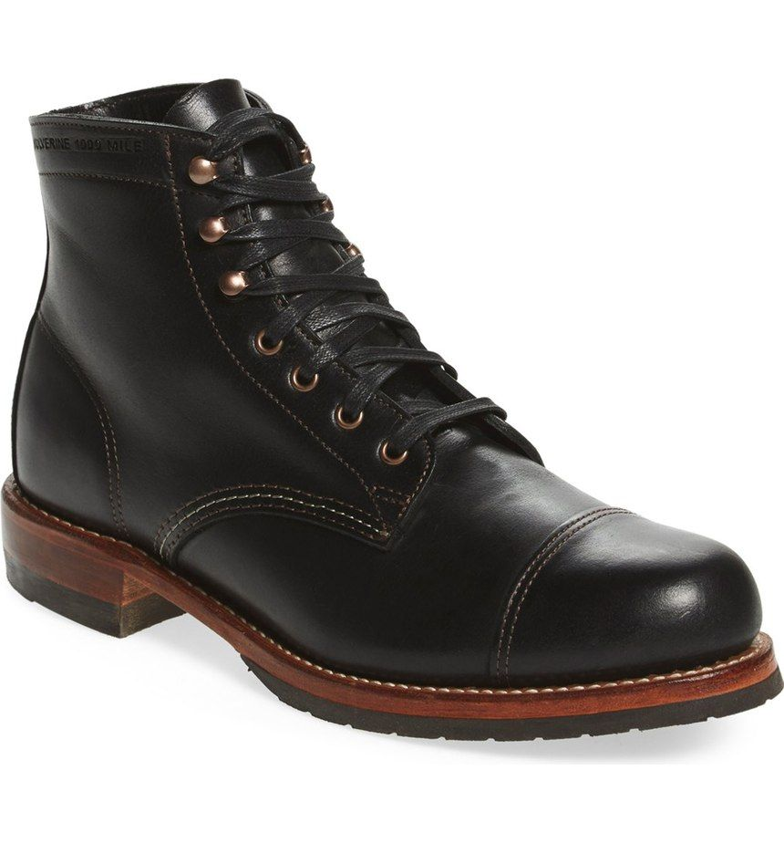 63c6f9fee3c Free shipping and returns on Wolverine  Adrian  Cap Toe Boot (Men) at  Nordstrom.com. Lustrous