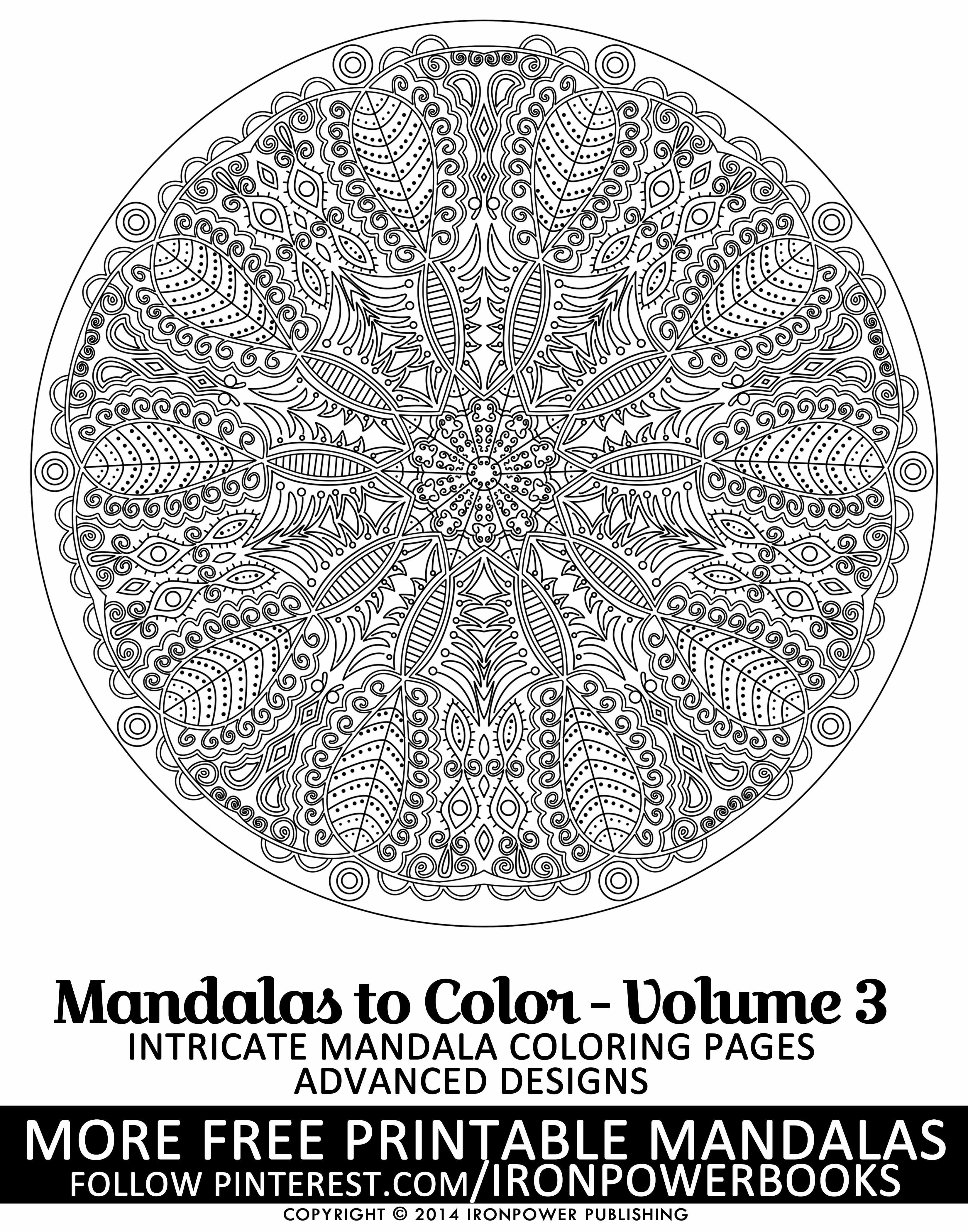 FREE Mandala Intricate Coloring Pages from @ironpowerbooks | This is ...