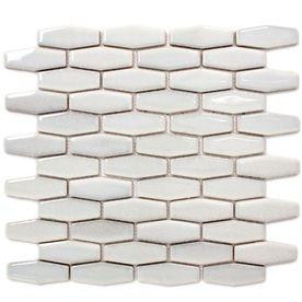 Gbi Tile Stone Inc Gray Glazed Porcelain Mosaic Subway Wall Common