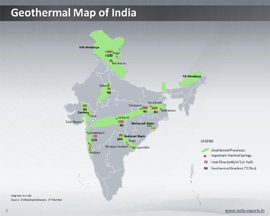 ppt map showing geothermal energy in india