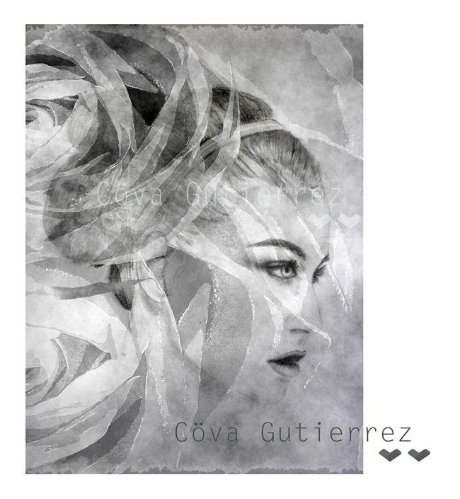 Cöva Gutiérrez: ILLUSTRATION #covagutierrez #illustration #blackandwhite #fashionillustration