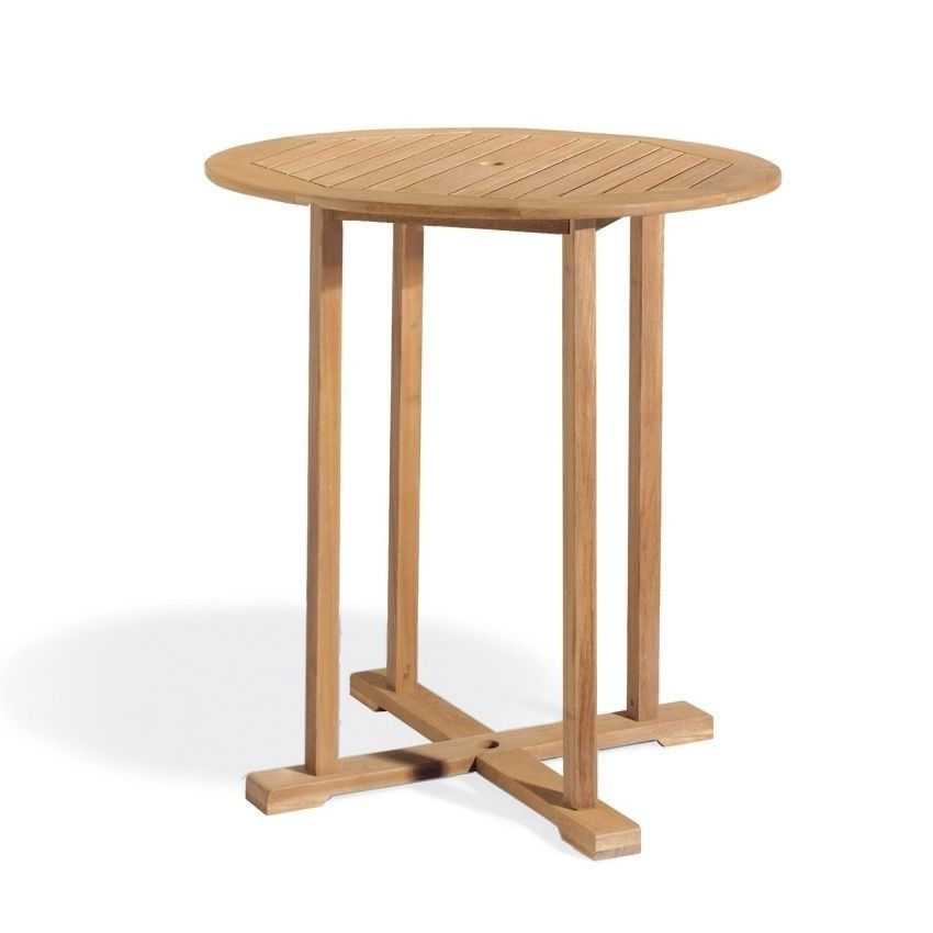 Oxford Garden Sonoma 36 Inch Round Bar Table (Natural), Brown, Patio  Furniture (Wood)