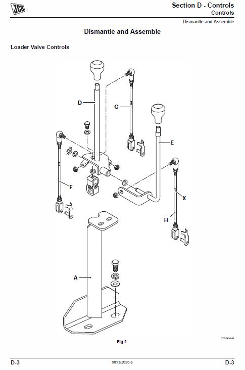 JCB 3DX, 4DX India Backhoe Loader Service Manual in 2020
