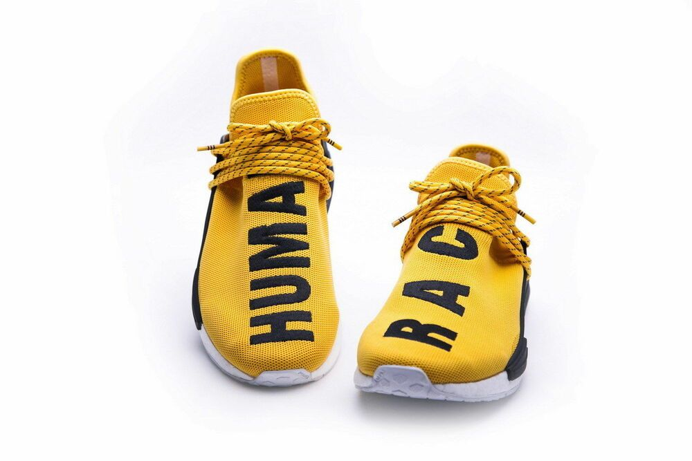 fe11cb4c4 eBay  Sponsored Adidas NMD HU Pharrell Williams Human Race Yellow Tennis  Running Sneakers BB0619