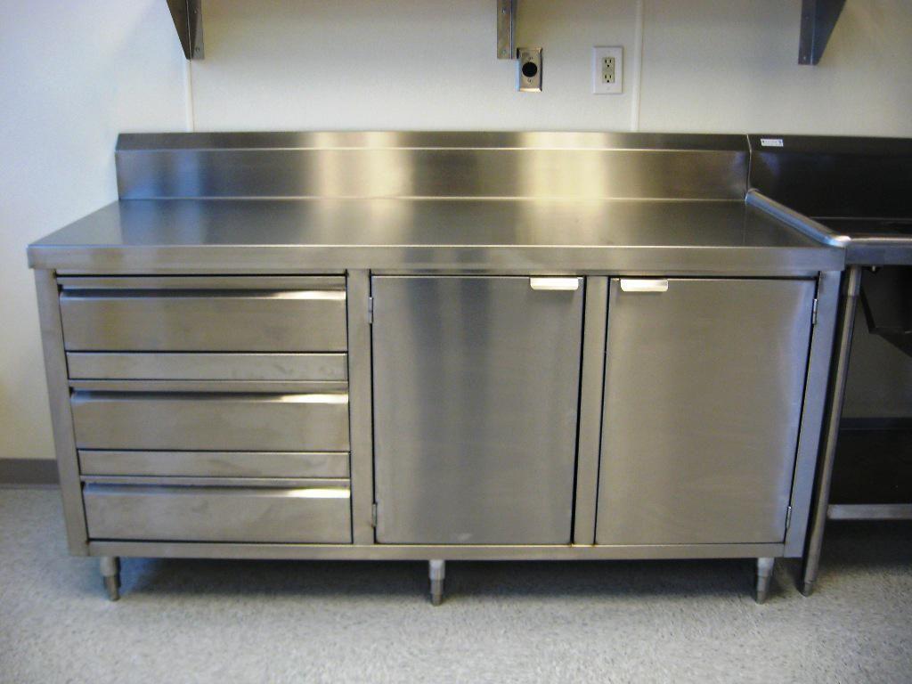Kitchen Elegant Stainless Steel Kitchen Cabinet