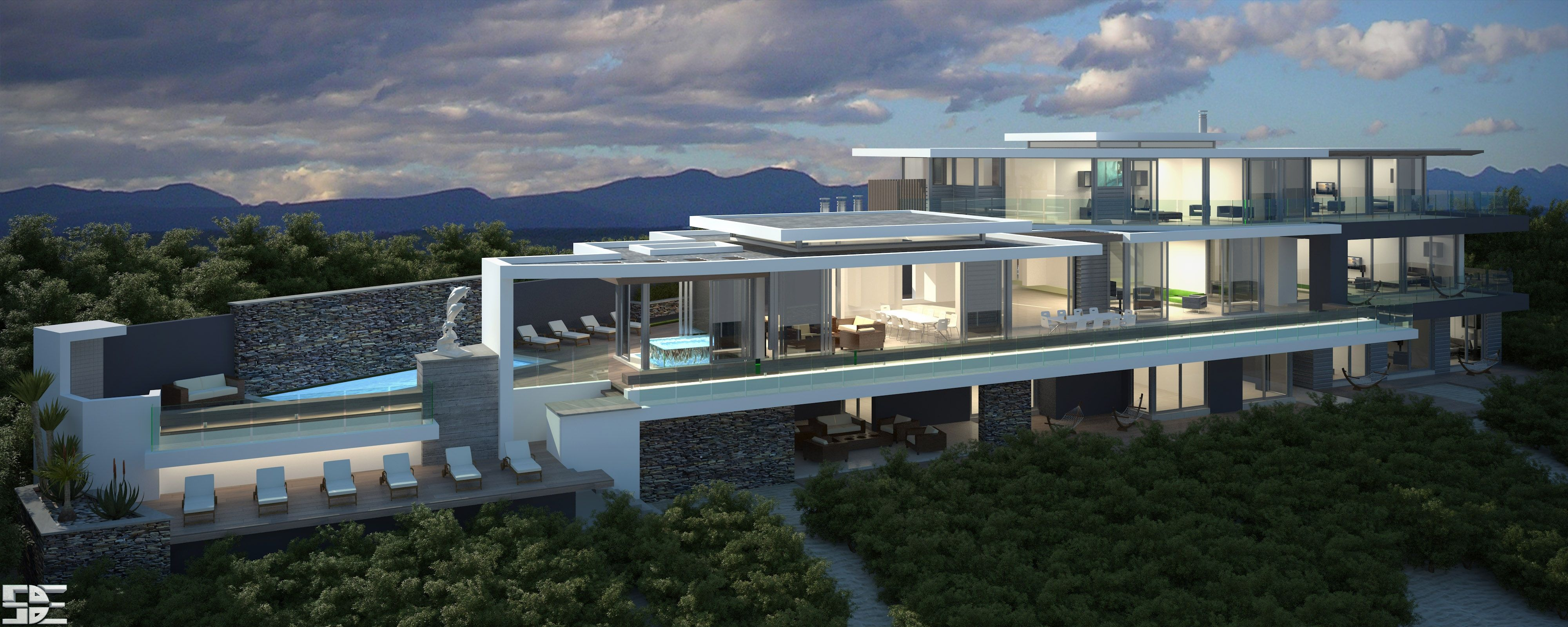 House design by johan breytenbach and suzette hammer of - Architectural home designs in south africa ...