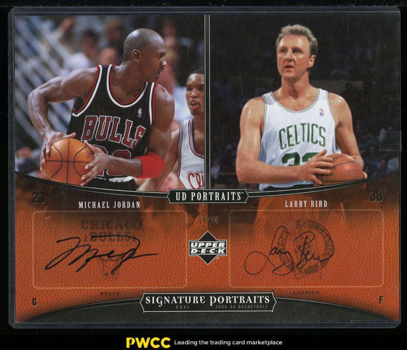 2005 UD Signature Portraits Dual Michael Jordan Larry Bird