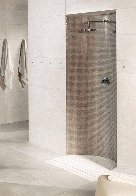 ducha de obra a ras de suelo para baño pequeño | small bathroom ...