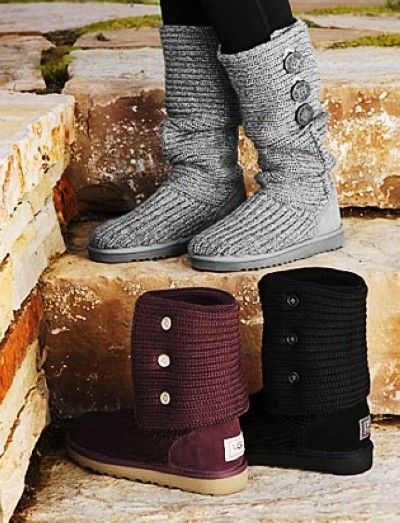 2013 Chic Knit Ugg Boots, Ugg Sweater Boots, Ugg Side Button Boots