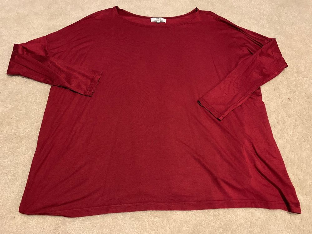 4e1d309af80 Piko Shirt - Womens Small - Long Sleeve - Dark Red  fashion  clothing