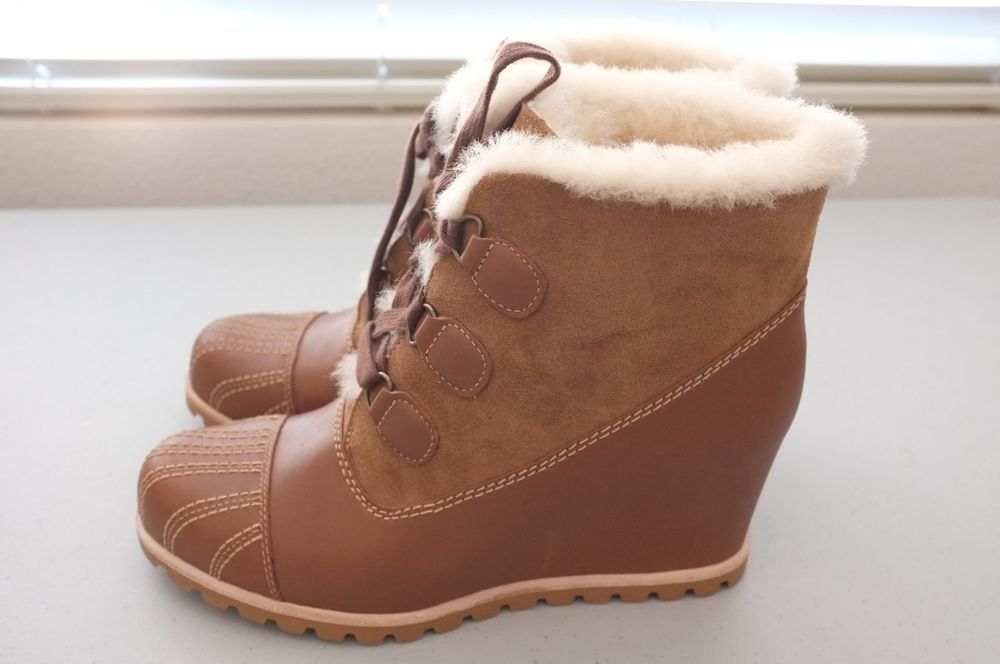 1d468ed5e8c NEW UGG Womens Alasdair Winter Bootie Boots Wedge Chestnut Brown Sz 9  (1018889)  fashion  clothing  shoes  accessories  womensshoes  boots  ad  (ebay link)