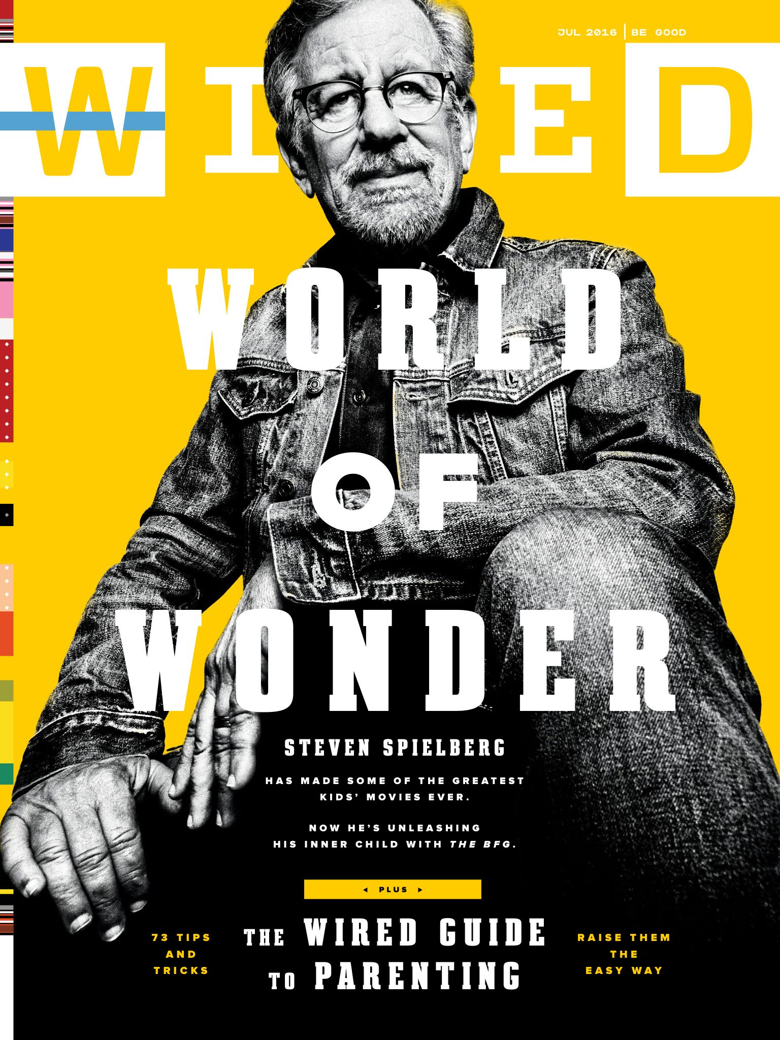 Wired cover from July 2016 with film director Steven