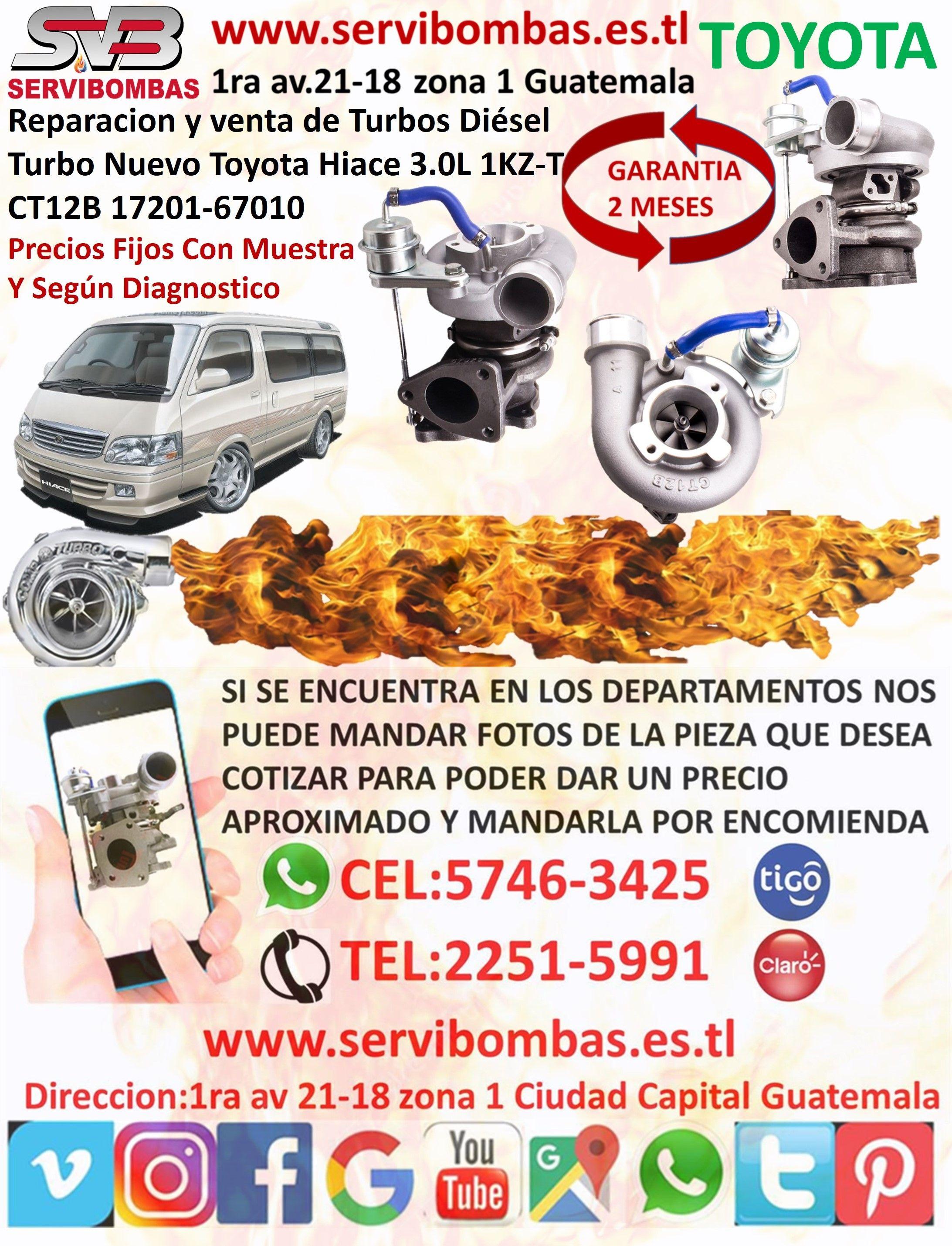 Pin En Reparacion De Turbos Toyota Diesel Guatemala