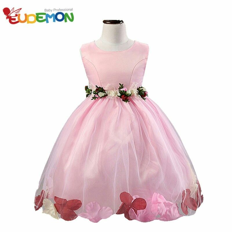 Floral Lace Dress Dresses Wedding Rose Petals Flower 10 Years Year Old Girls Girl Clothing