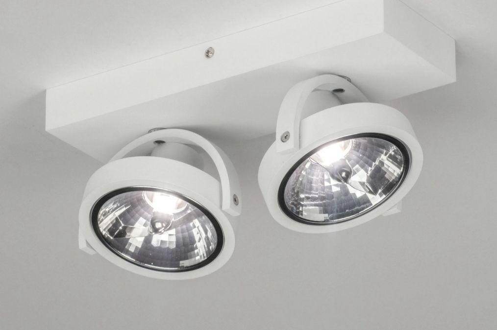 Spot 73576 Modern Aluminium Wit Mat Plafondlamp Lichtbundel Led
