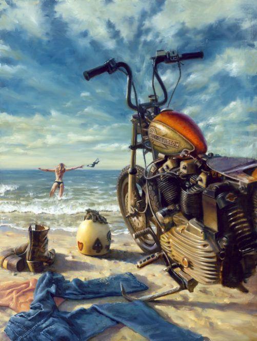 Daytona Dippin Harley Davidson Art Harley Davidson Artwork Harley Davidson Posters