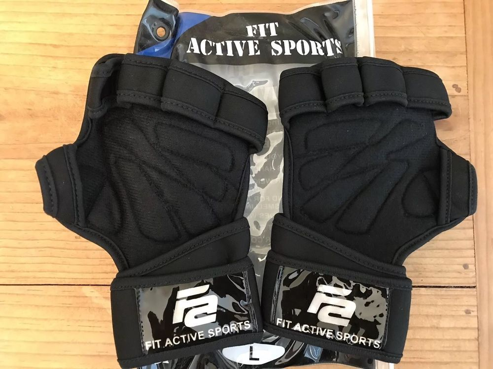 Fit Active Sports Size Large Gloves Weight Lifting Grips