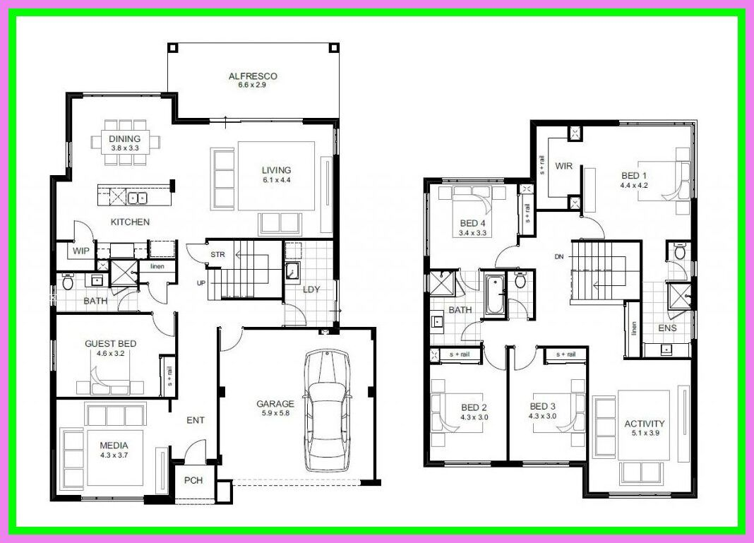 94 Reference Of Floor Plans 5 Bedroom 2 Story In 2020 5 Bedroom House Plans House Plans With Photos Two Story House Plans
