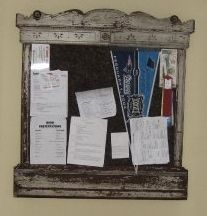 Bulletin Board Made Out Of An Old Dresser Mirror