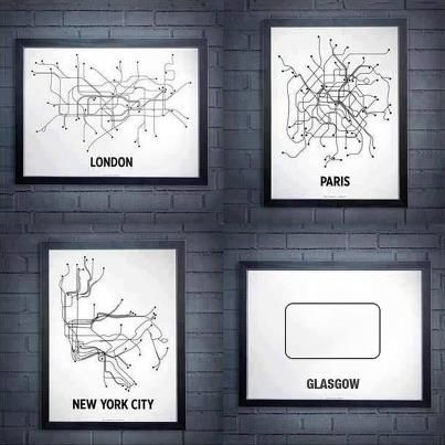 Subway Map Wall Art Wall Art Stickers Wall Decal Huge Underground Tube Map.Glasgow Underground Maps And Globes Map Wall Art Glasgow
