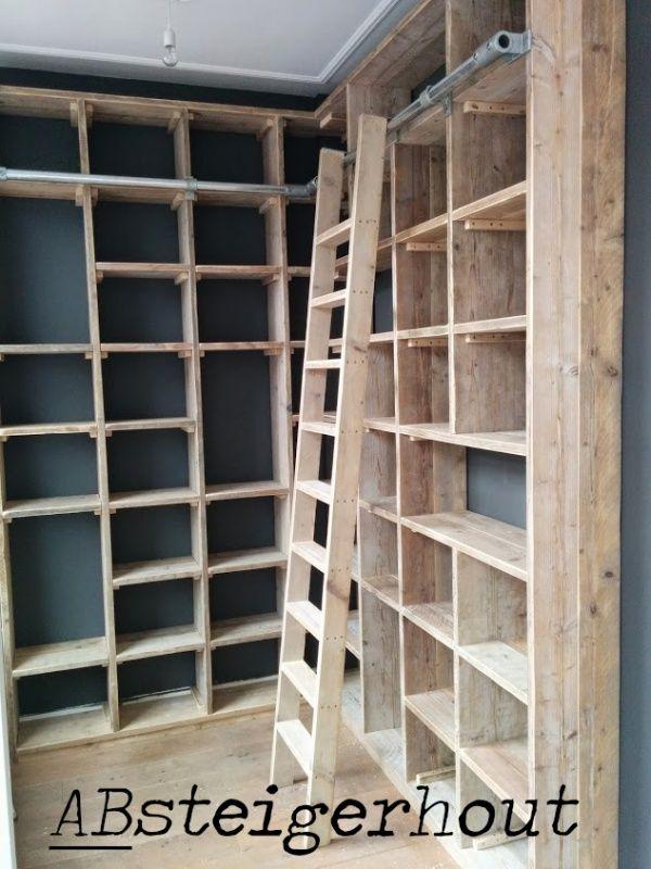 boekenkast steigerhout google zoeken