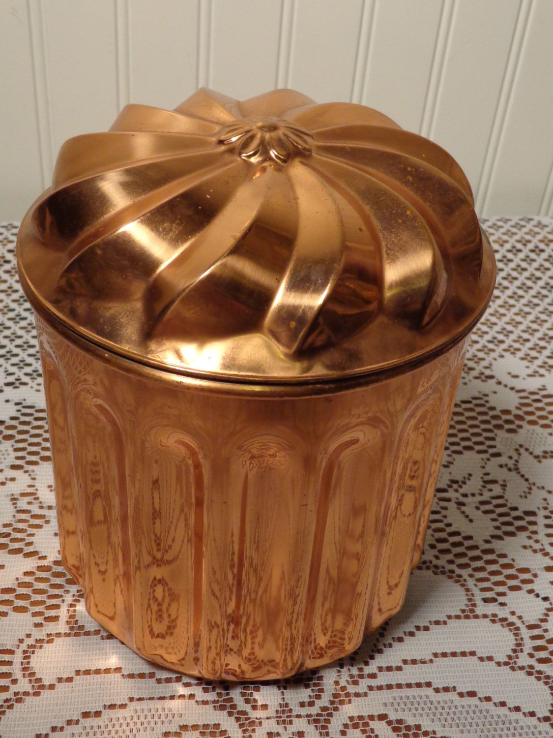 vintage copper canister large copper container 15 573 porch