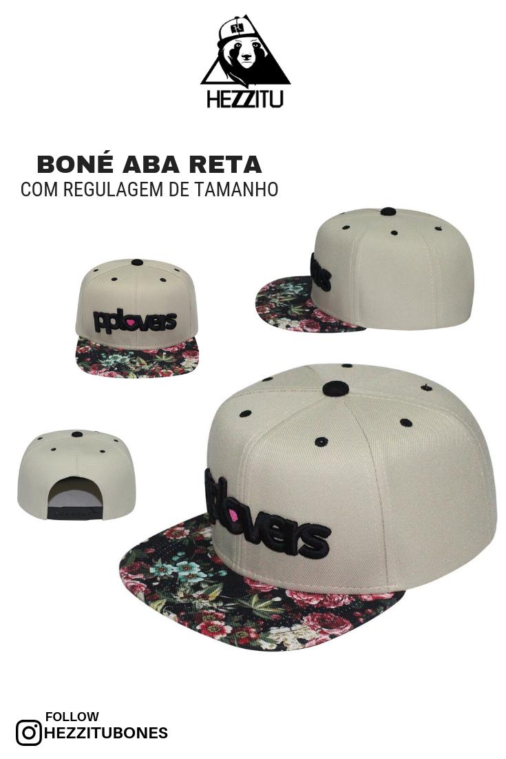 Boné snapback aba floral reta d0852a86913