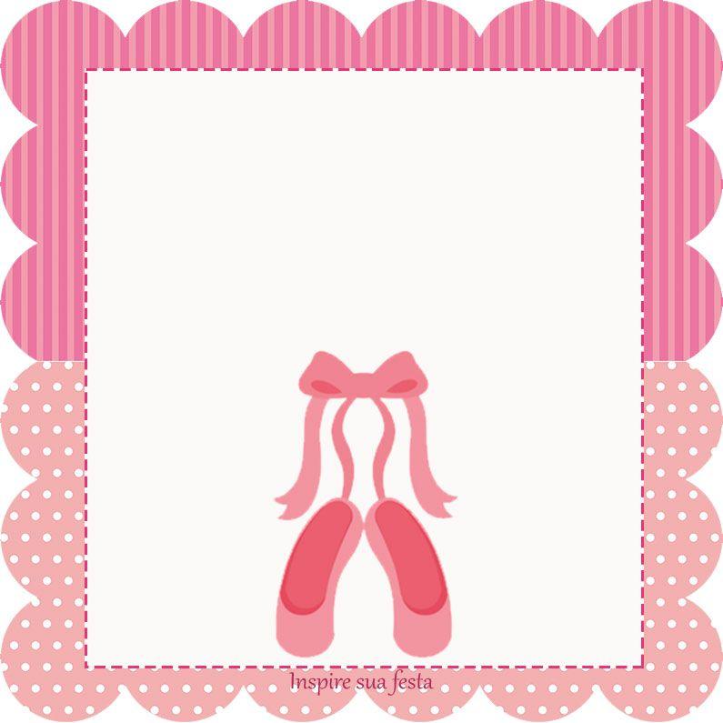 Bailarina kit festa grátis para imprimir | bailarina ...
