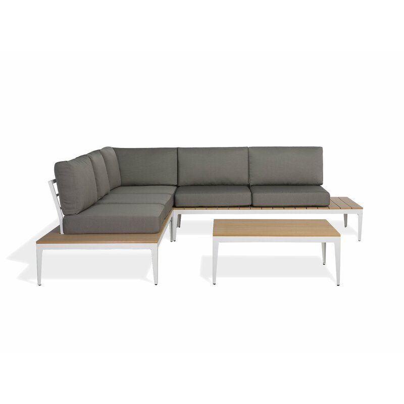 Garten Living 5 Sitzer Lounge Set Kirch Mit Polster Bewertungen Wayfair De Sitzgruppe Gartensofa Lounge