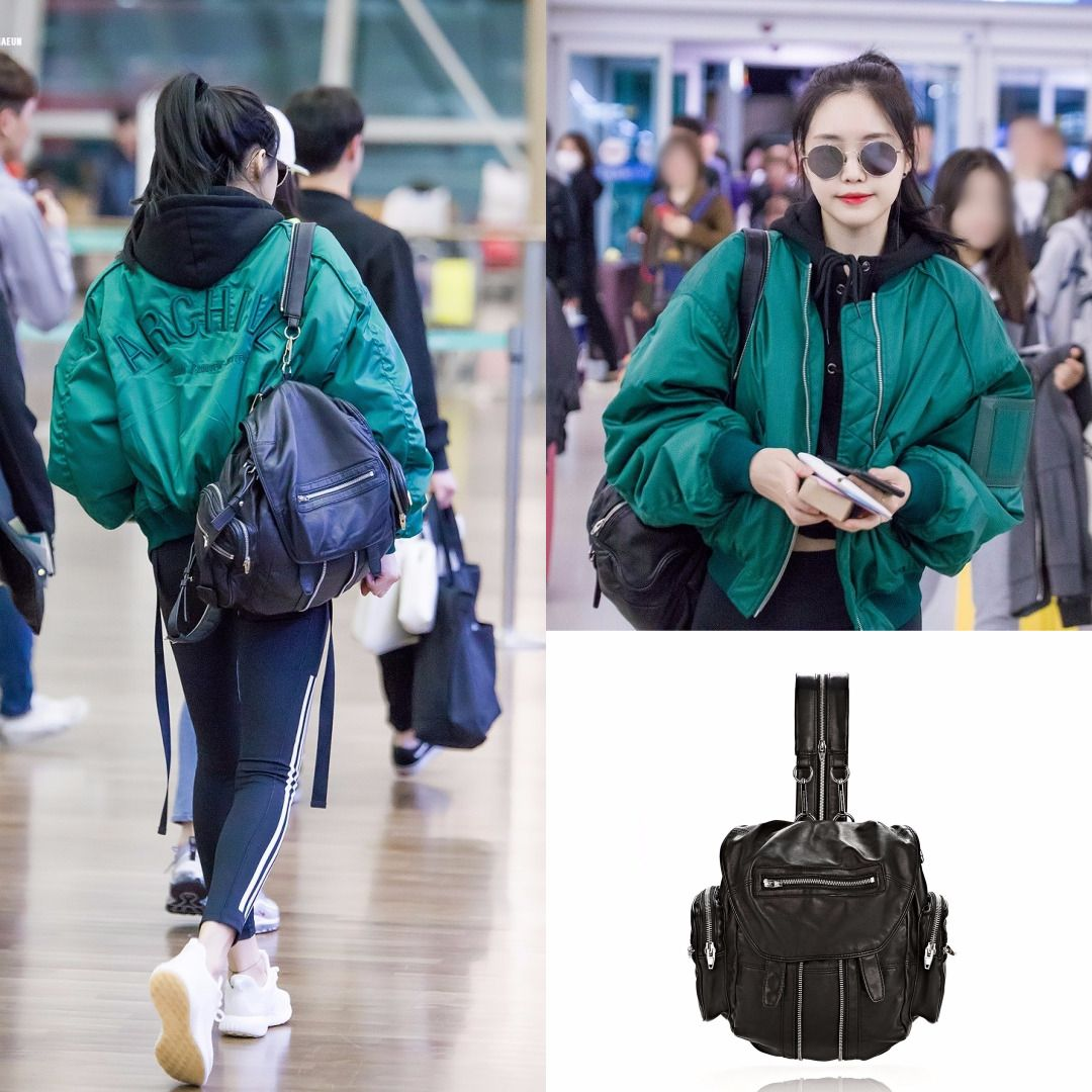Airportfashion Idol Sonnaeun Pick Alexanderwang Backpack Washed Womensfashion Apink Koreanidol Korea Fashion Airport Style Fashion Makeup