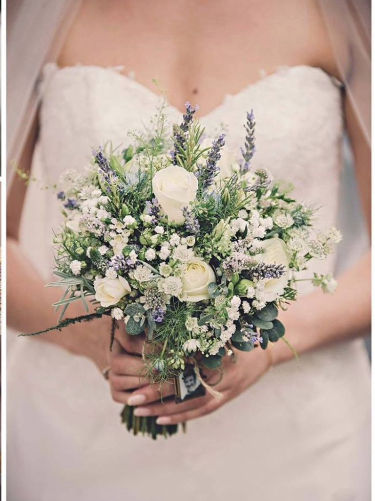 Lavender, Roses and Gypsophila Bridal Bouquet | Blumen | Pinterest ...