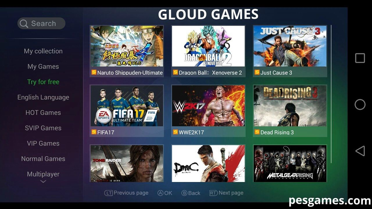 Gloud Games is an online video game service on the cloud