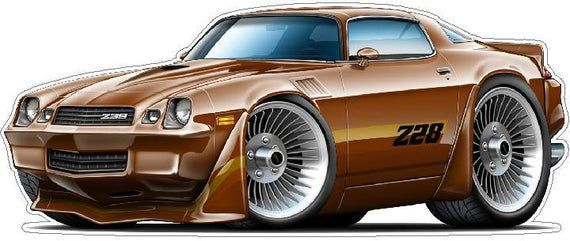 1979 Z28 Camaro Wall Decal, Vintage Car Decals, Classic Car Decal, 70s Car Decals, Vintage Hot Rod Decals