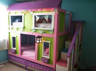 Craftsman Style Sweet Pea Bunk Beds Do It Yourself Home Projects From Ana White Com Girls Bunk Beds Diy Bunk Bed Cool Bunk Beds
