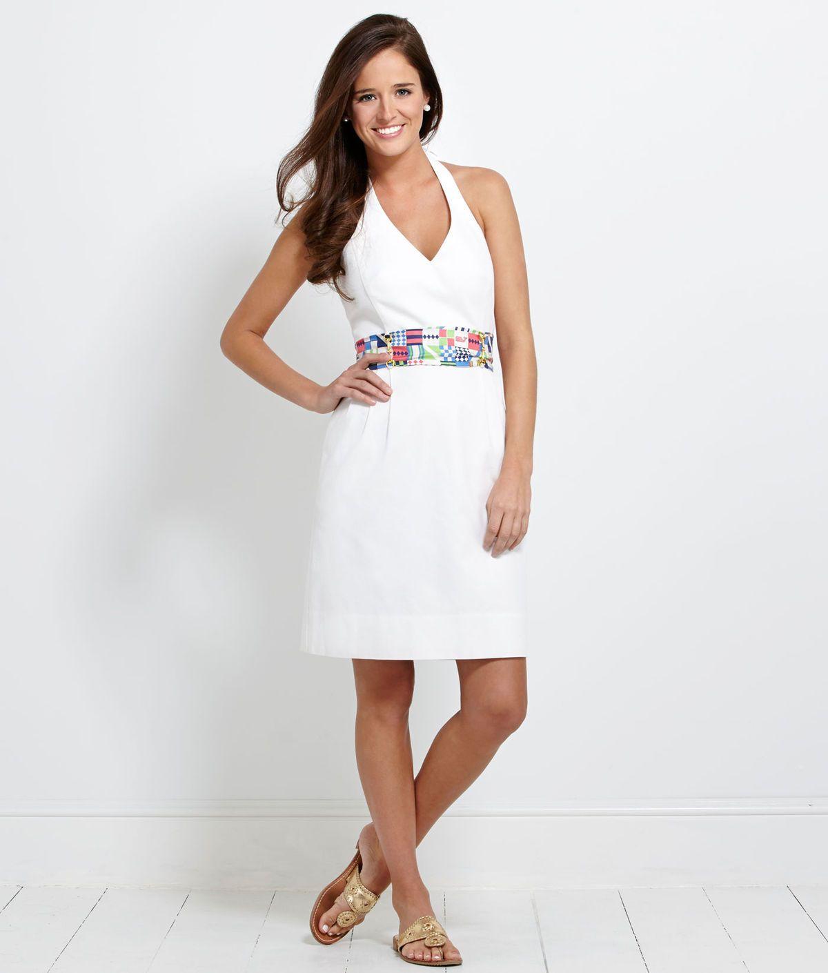 Women's Dresses: Derby Sash Halter Dress for Kentucky Derby