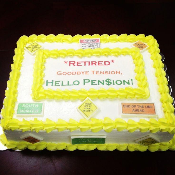 Cake Decoration Ideas For Retirement : pinterest retirement ideas pin retirement sheet cake on ...