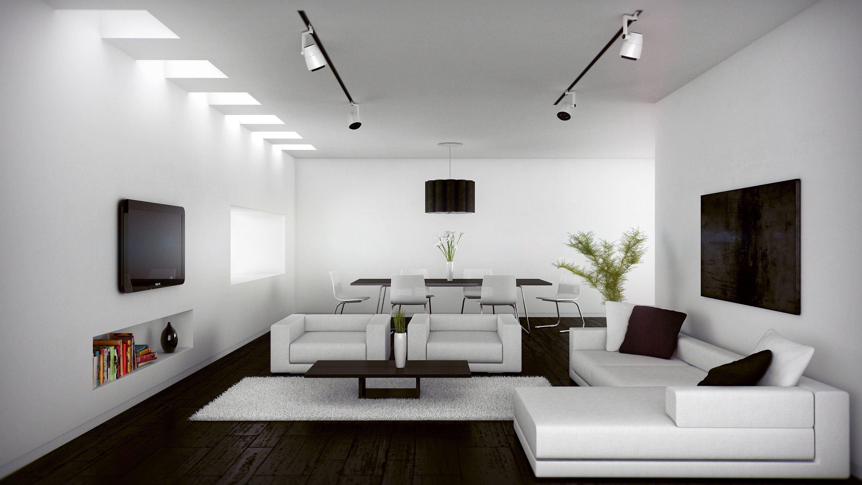 Monochromatic Living Room Decor