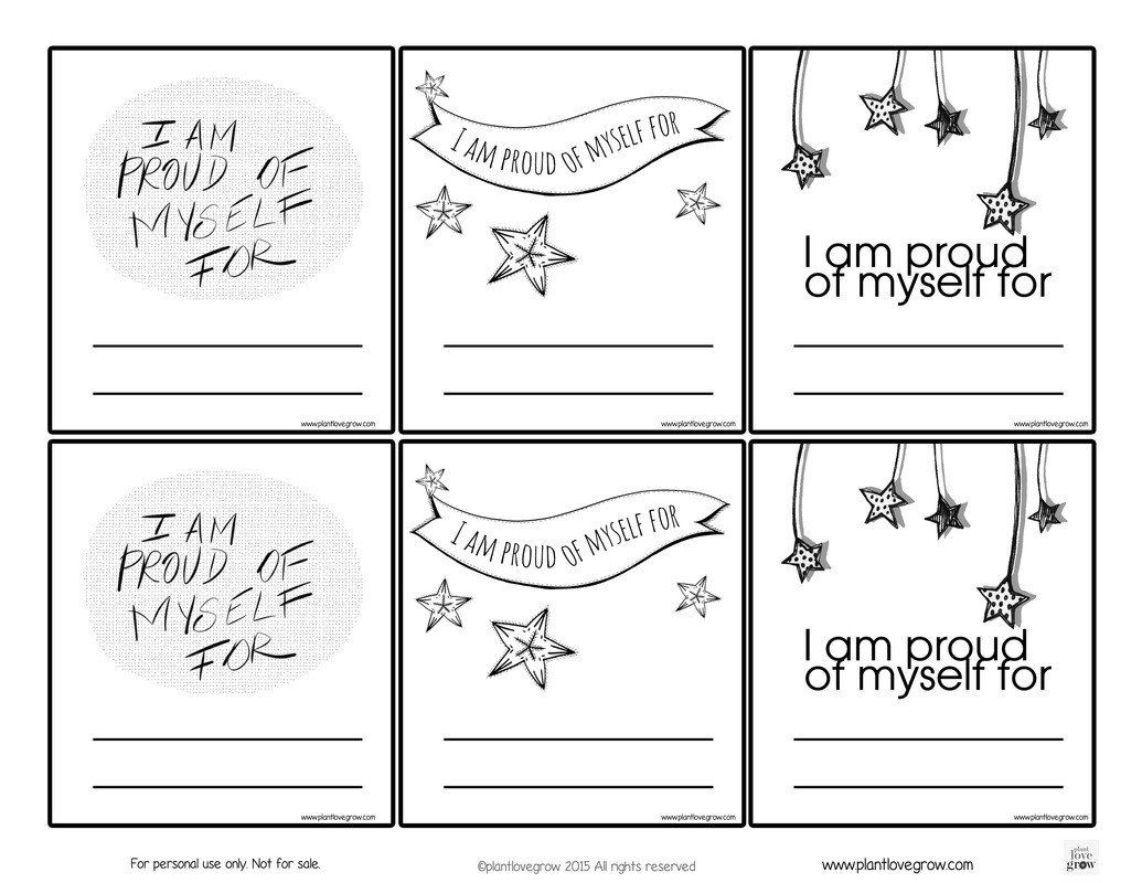 Self Esteem Printable Worksheets Self Esteem Plant Love Grown Self Esteem Worksheets Art Therapy Activities Self Esteem Activities