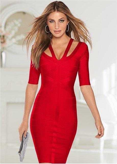 1179d8135b991 Slimming strap detail dress