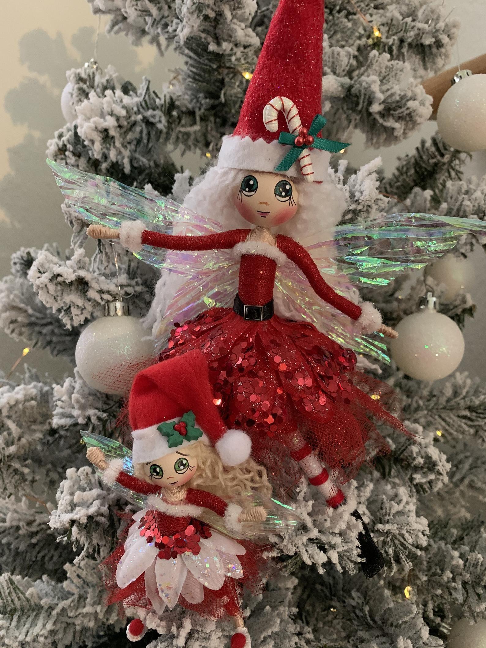 Christmas Fairy Fairy Doll Flower Fairy Santa Bendy Doll Etsy In 2020 Fairy Dolls Christmas Fairy Fairy Garden Gifts