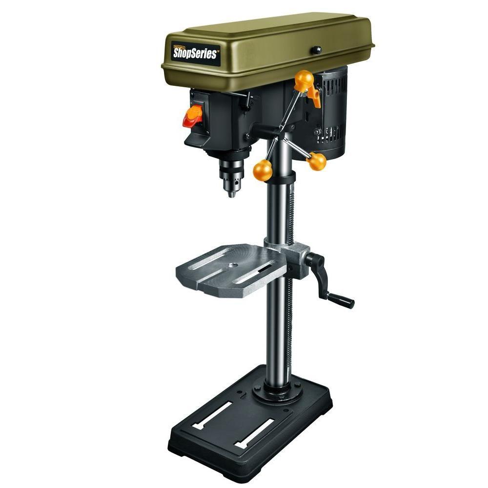 Shop Series 10 In 5 Speed Drill Press Drill Press Drill Press Stand Speed Drills