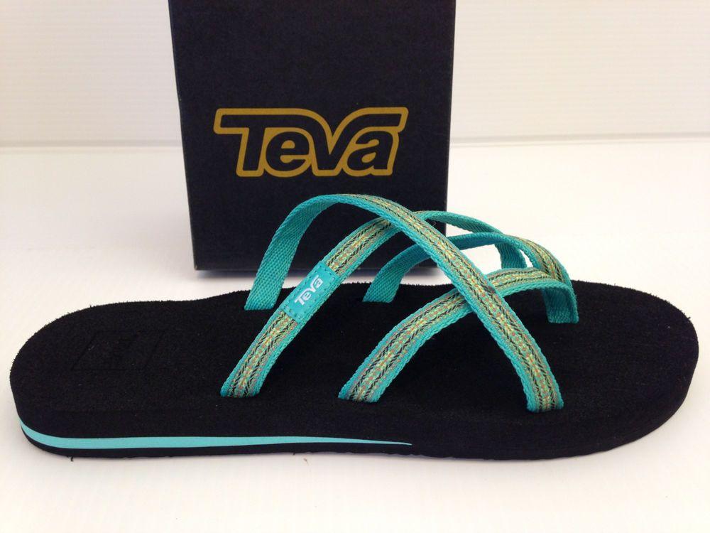 4604a4e6c Teva Olowahu Women s Green Flip Flop Sandals Pintado Florida Keys Size 10  USA  Teva  FlipFlopsThongsSandals  Beach
