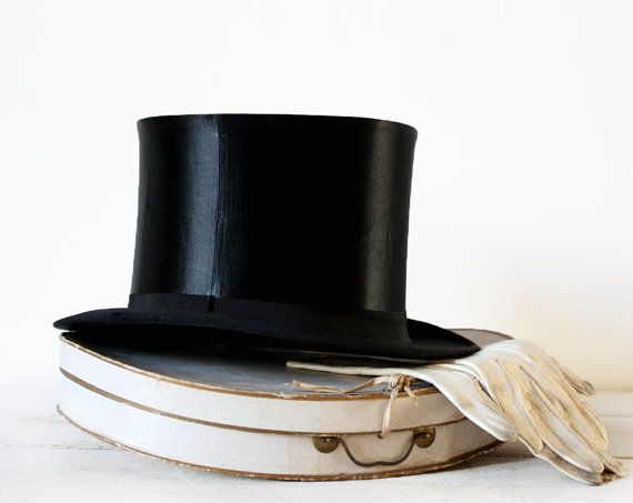 Oh-so dapper. Gorgeous FRENCH collapsible Silk OPERA Top HAT in by ... 8cae864f8b5