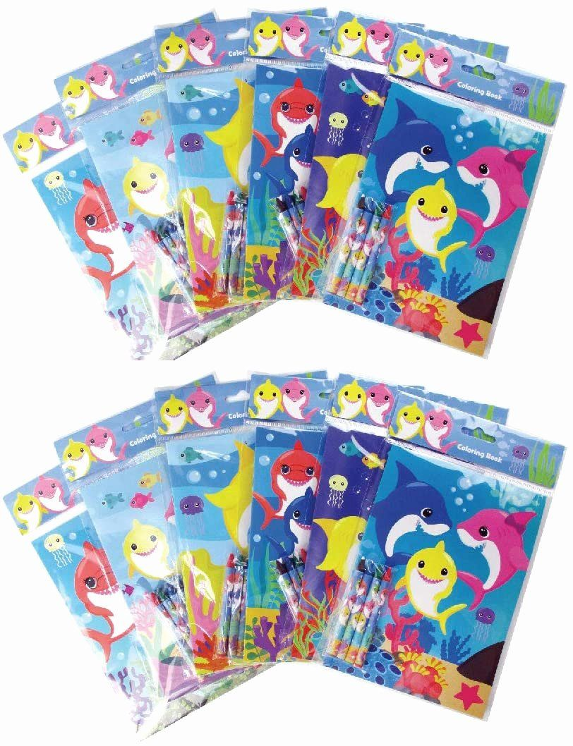 Coloring Book Party Favors Awesome Shark Family Coloring Books With Crayons Party Favors Set Of 12 Coloring Book Set Easter Coloring Book Coloring Books