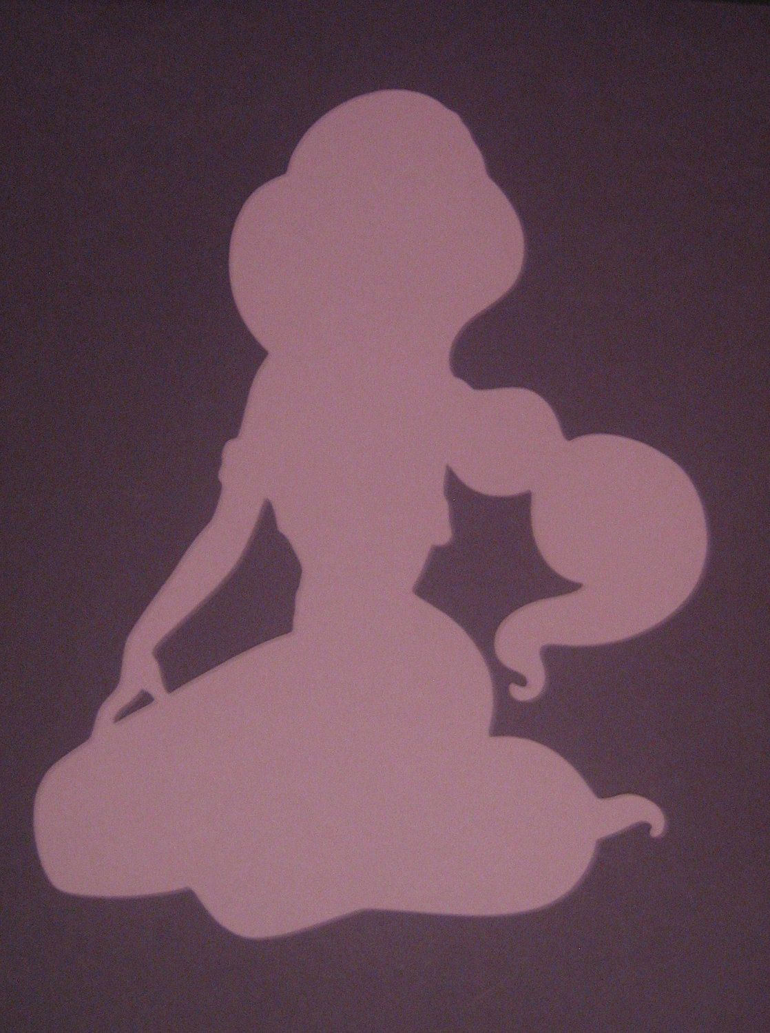 Disney Princess Jasmine Silhouettes for framing, birthday parties, invitations, banners, scrapbooking. $5.00, via Etsy.