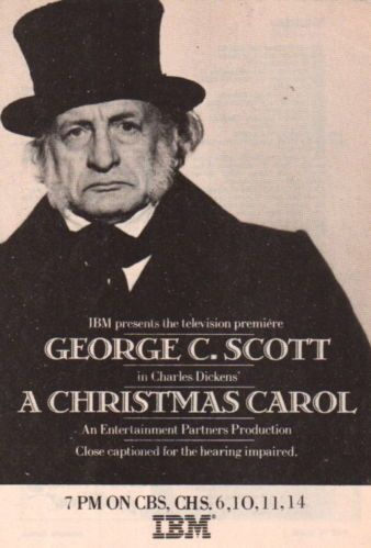 George C Scott A Christmas Carol.George C Scott A Christmas Carol Clipping Magazine 5x7 1pg