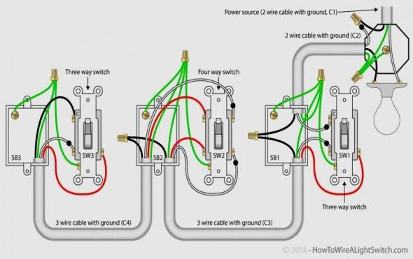 3 Way Switch Wiring Diagram Variation Di 2020
